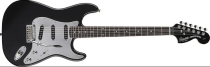 Fender Squier Standard Stratocaster Black and Chrome (Special Edition)