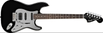 Fender Squier Black and Chrome Stratocaster HSS (Special Edition)