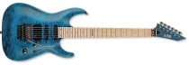 ESP LTD MH-103QM See Thru Blue